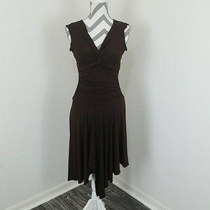 Brown Asymmetrical Dress
